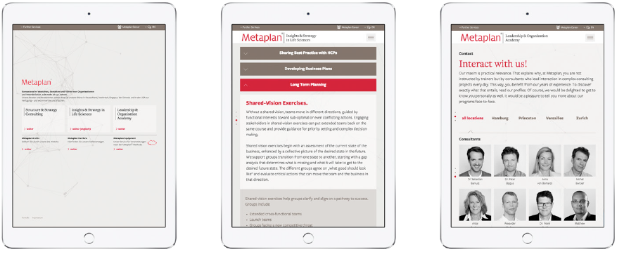 Metaplan Website Ipad