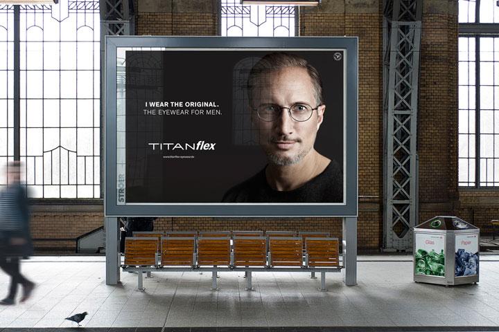 Titanflex Plakat mit Benno Fürmann