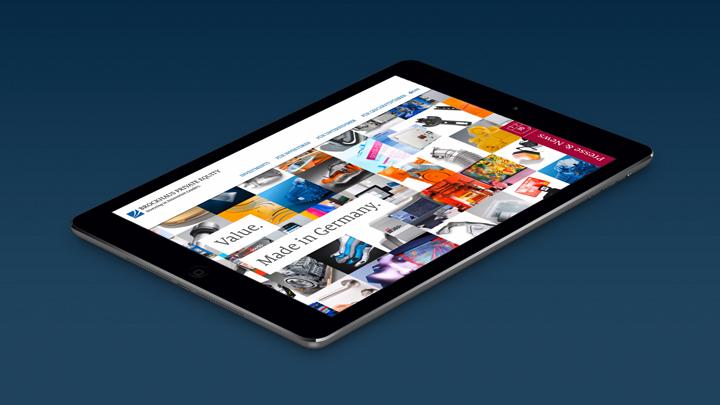 Brockhaus Private Equity Webdesign Tablet