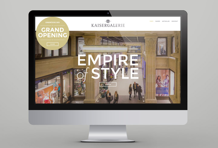 Kaisergalerie – Website Desktop