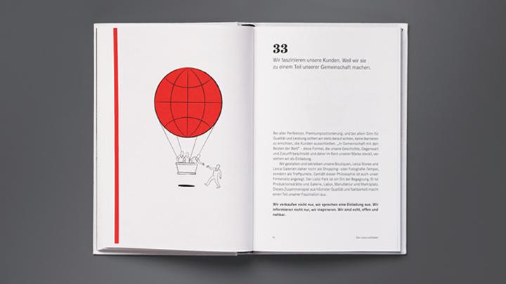 Leica Markenbuch Doppelseite