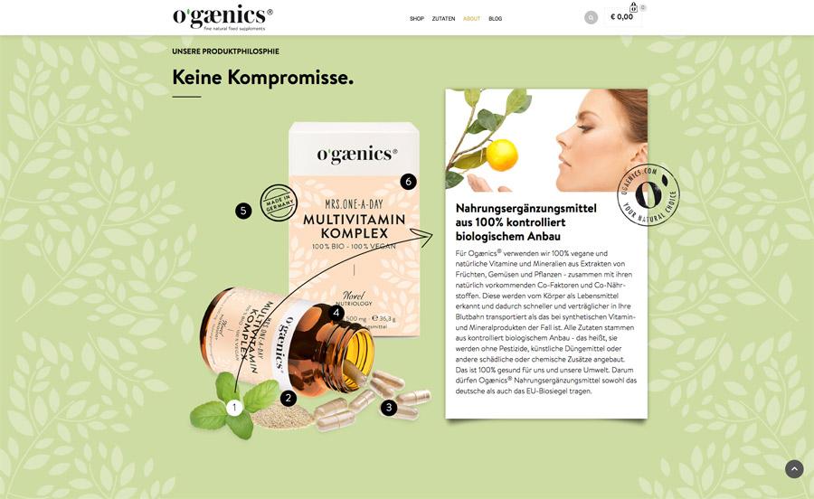 ogaenics Website Detail