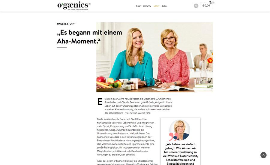 ogaenics Website About