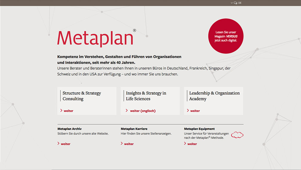 Metaplan Website Start