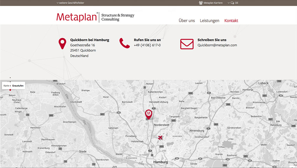 Metaplan Website Kontakt