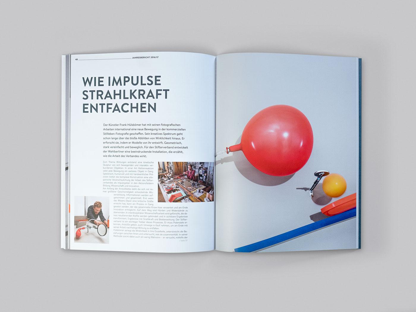 Stifterverband Jahresbericht Doppelseite