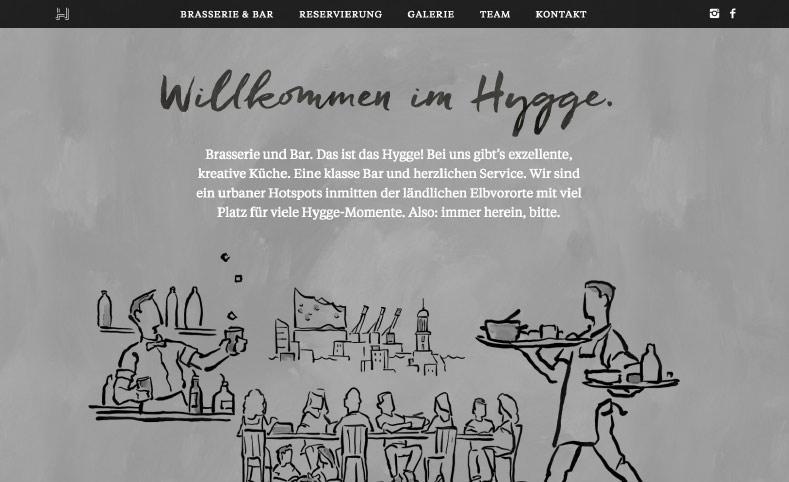 Hygge Website willkommen